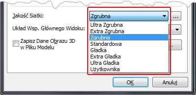Ustawienia jakości siatki 3D